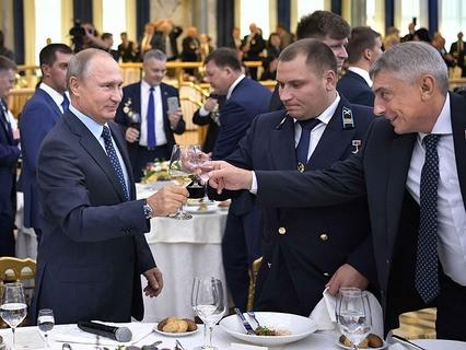 Владимир Путин на торжественном вечере работников угольной отрасли в День шахтёра