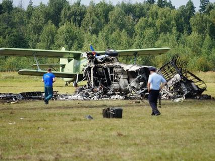В Балашихе на авиашоу разбился самолёт