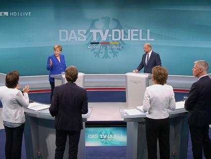 В Германии прошли теледебаты между Ангелой Меркель и Мартина Шульцем