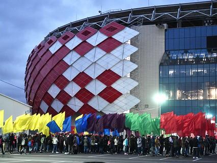 Репетиция парада XIX Всемирного фестиваля молодёжи и студентов