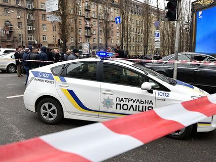 Место убийства экс-депутата Госдумы Дениса Вороненкова в Киеве