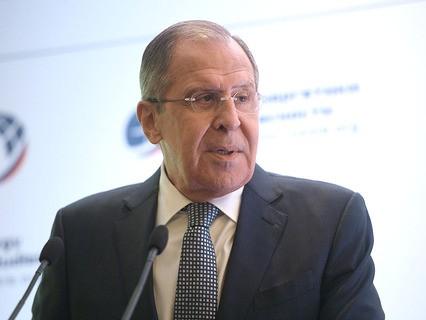 Министр иностранных дел РФ Сергей Лавров во время выступления на Московской конференции по нераспространению – 2017