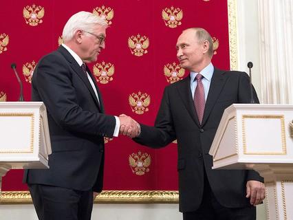 В Кремле прошли переговоры Владимира Путина и президента Германии Франка-Вальтера Штайнмайера