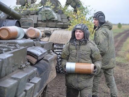 Танковые учения на Чебаркульском полигоне