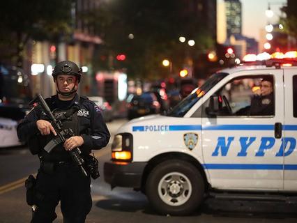 Полиция США на месте происшествия на Манхэттене