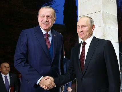 Встреча в Сочи президента Турции Реджепа Эрдогана и президента России Владимира Путина