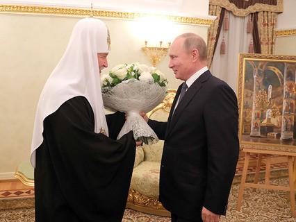 Владимир Путин поздравил Патриарха Московского и всея Руси Кирилла с днём рождения