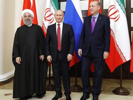 Владимир Путин, Хасан Роухани и Реджеп Эрдоган
