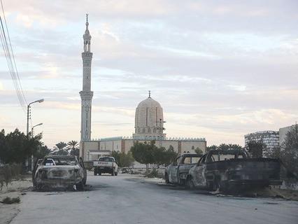 Последствия теракта на севере Египта