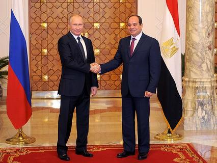 Президент России Владимир Путин и президент Египета Абдель Фаттах ас-Сиси