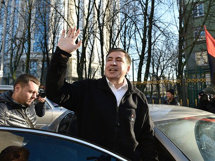 """Экс-губернатор Одесской области Украины и лидер политической партии """"Рух нових сил"""" Михаил Саакашвили"""