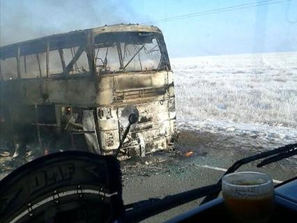 В Казахстане 52 человека погибли при пожаре в пассажирском автобусе