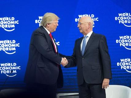 Президент США Дональд Трамп на Всемирном экономическом форуме