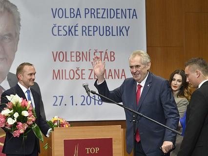В Чехии во втором туре президентских выборов победу одержал действующий глава страны Милош Земан