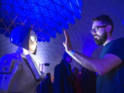 На открытии самого большого в мире планетария в Санкт-Петербурге