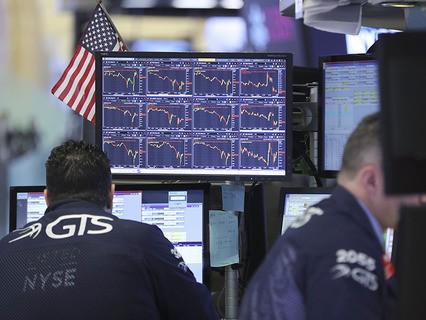 Индекс Dow Jones опустился более чем на тысячу пунктов