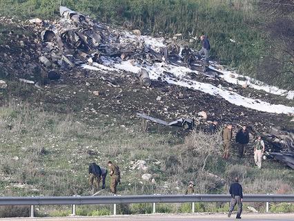 Место падения израильстко истребителя F-16
