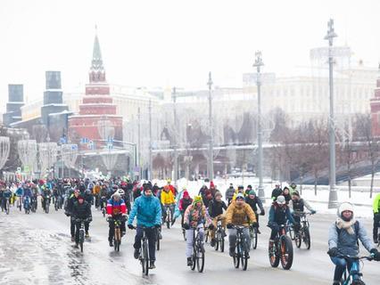 III зимний Московский велопарад