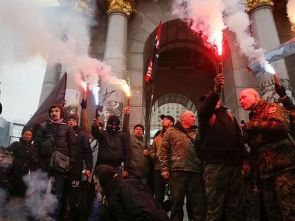 В Киеве продолжаются бесчинства националистов