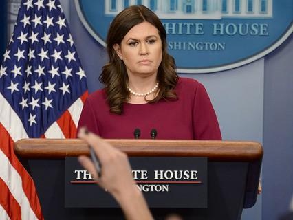 Официальный представитель администрации США Сара Сандерс