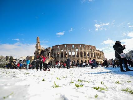 После снегопада в Риме