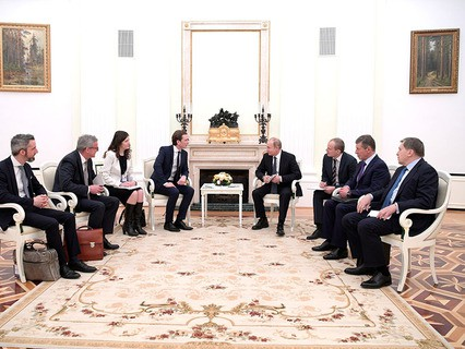 Канцлер Австрии Себастьян Курц и президент России Владимир Путин