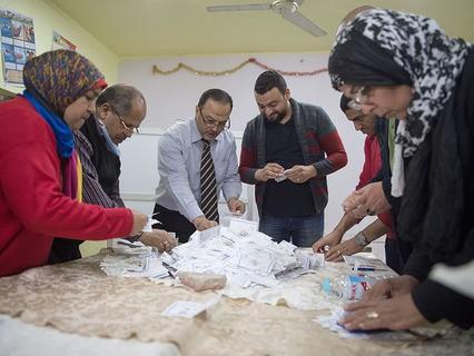 Подсчёт голосов на президентских выборах в Египте