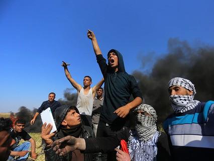 В восточной части Сектора Газа на границе с Израилем продолжаются беспорядки