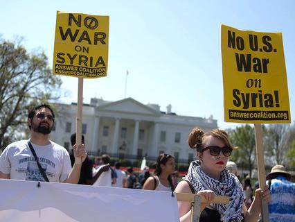 По всему миру прошли массовые акции в защиту Сирии