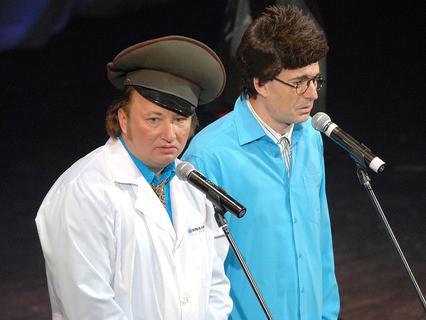 Артисты эстрады Юрий Гальцев и Геннадий Ветров