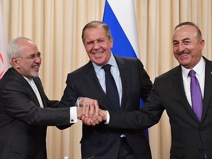 Встреча глав МИД РФ, Ирана и Турции