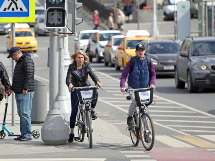 Работа городского общественного велопроката в Москве