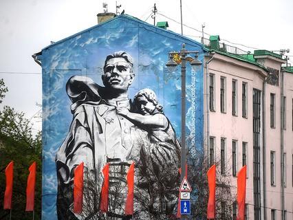 Праздничное оформление Москвы ко Дню Победы