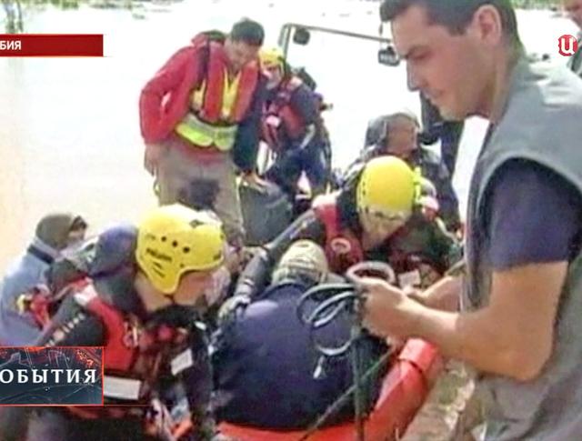 Спасательная операция в Сербии