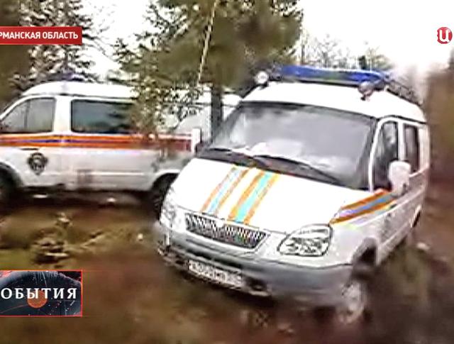 Скорая помощь на месте падения вертолета