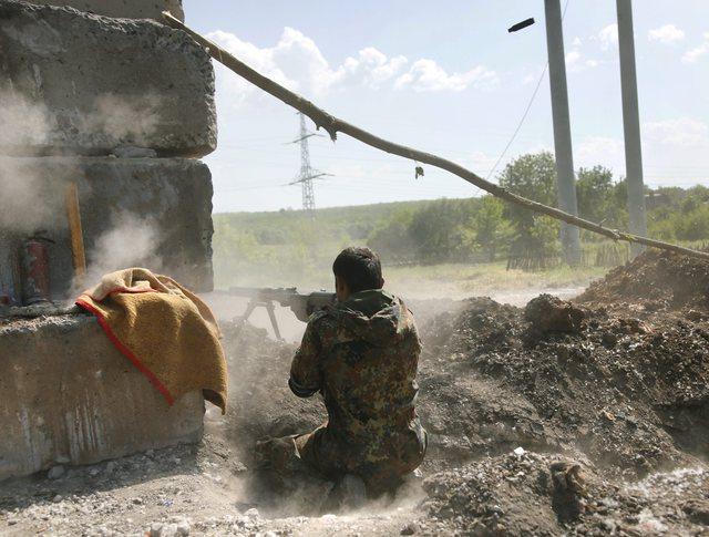 Бои в Славянске