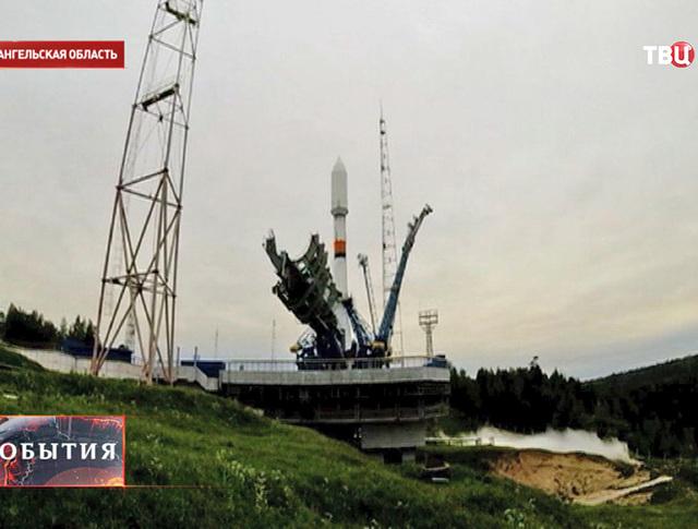 "Ракета-носитель ""Союз"" на космодроме Плесецк"