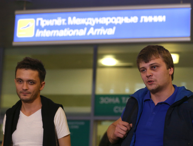 """Журналисты телеканала """"Звезда"""" в аэропорту """"Шереметьево"""""""