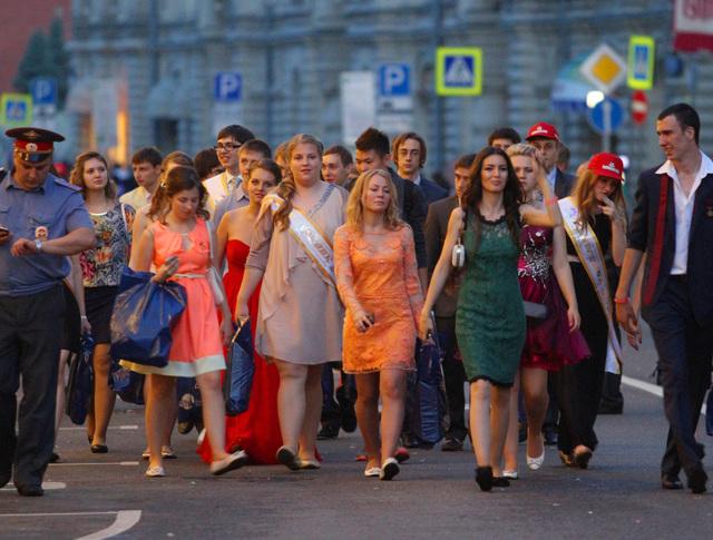 Выпускники школ на Красной площади