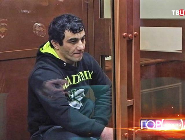Подозреваемый Орхан Зейналов во время судебного процесса в Мосгорсуде