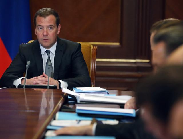 Дмитрий Медведев во время совещания о развитии Дальнего Востока