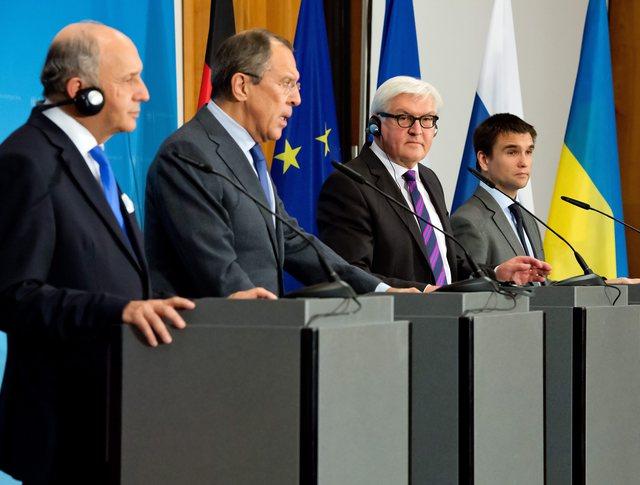 Встреча глав МИД России, Германии, Франции и Украины в Берлине