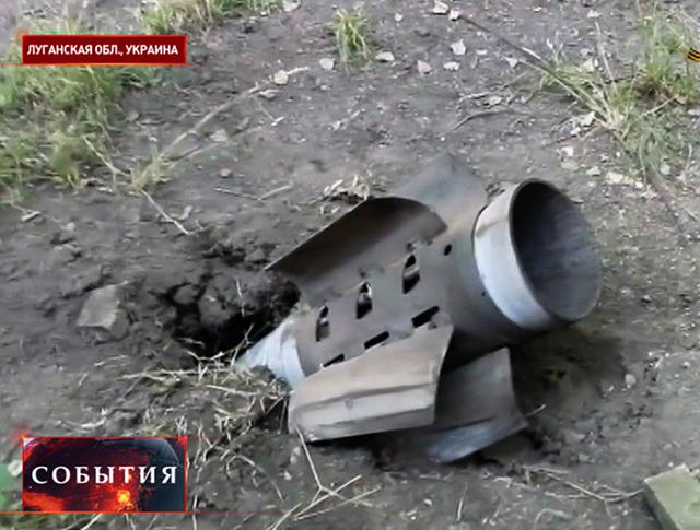 Последствия обстрела Луганской области