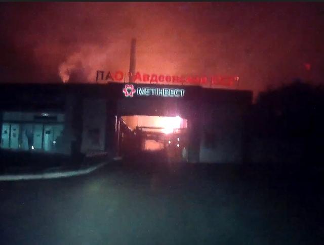 Последствия обстрела завода в Донецкой области