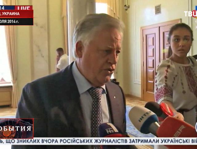 Лидер украинской фракции коммунистов Петр Симоменко