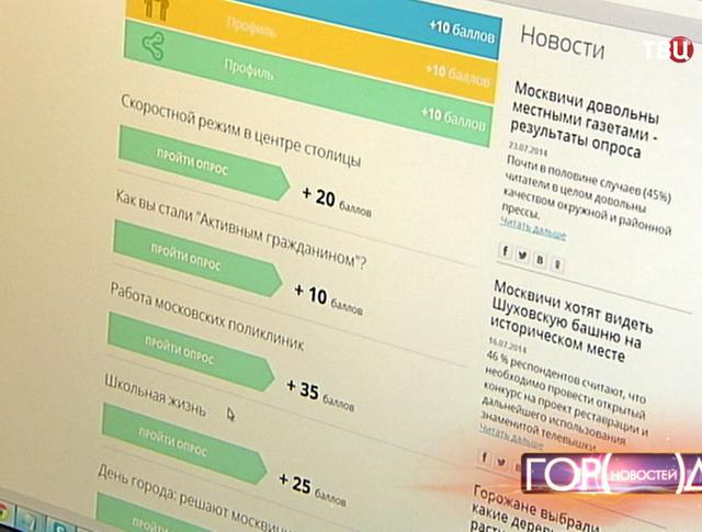 """Голосование горожан на портале """"Активный гражданин"""""""