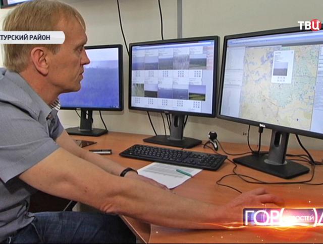 Online мониторинг лесного массива в Шатурском районе