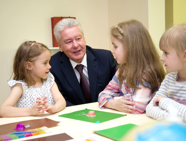 Сергей Собянин с детьми