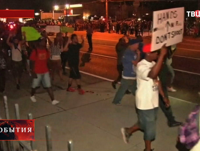Уличные протесты в Фергюсоне. США