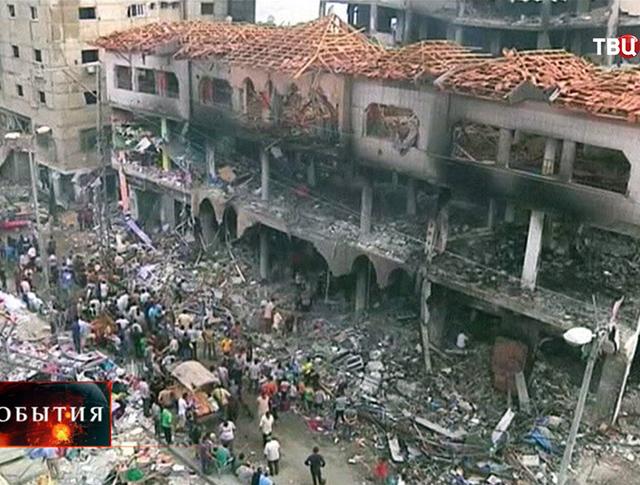 Последствия бомбардировки сектора Газа